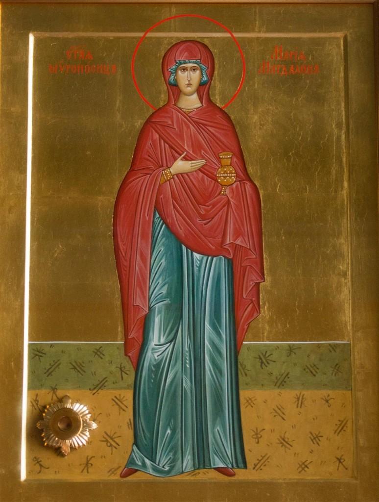 икона cвятой равноапостольной мироносицы Марии Магдалины с частицей ее мощей